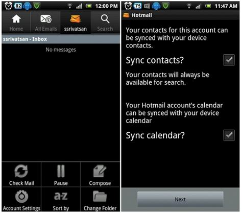 windows live mail for android microsoft launches hotmail app for android