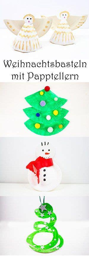 weihnachtsbasteln mit papptellern kann ich schon