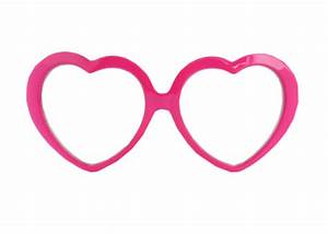 Pink Heart Sunglasses Clipart