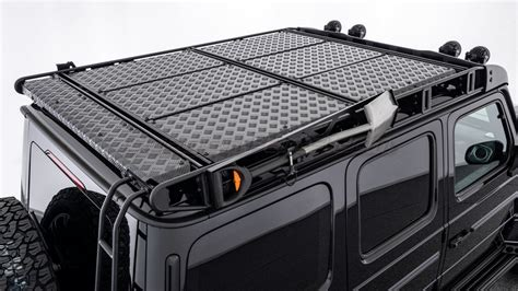 Side steps, trunk mats, chrome rims, car covers, rubber mats, dash kits, push bars, custom headlights, exhaust systems we know how to throw a classy appeal into your mercedes g class and keep it providing the best performance, so trust us. BRABUS Roof Rack for MY 2019-on W463A - GwagenParts.com | Mercedes G-class Parts