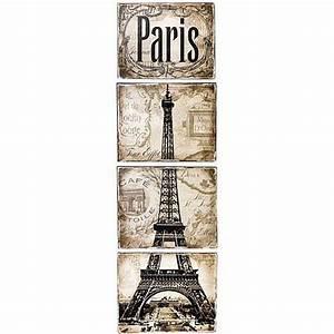 paris wall art project by decoart With paris wall art