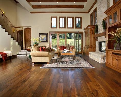 hardwood floors houzz hickory wood floor brown stain design ideas pictures remodel and decor