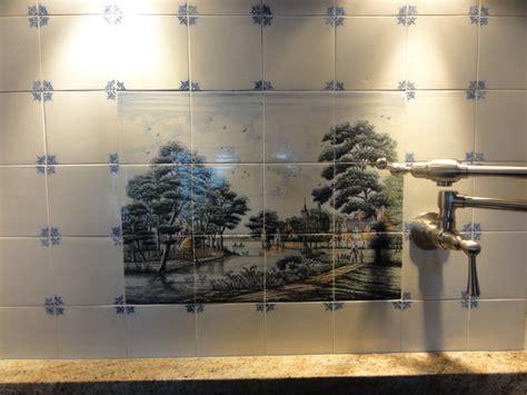 delft kitchen tiles wesselink delft tile tableau backsplash traditional 3147