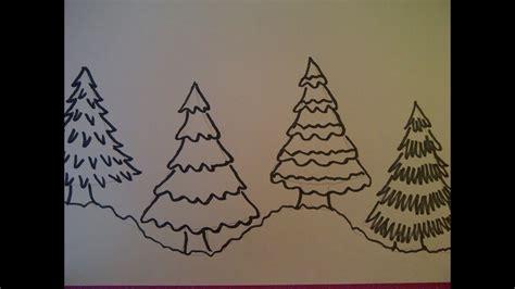 weihnachtskarten zum selber machen 4 m 246 glichkeiten einen weihnachtsbaum zu zeichnen weihnachtskarten selber malen