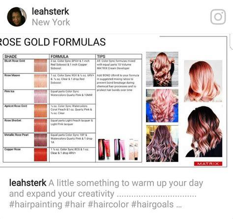 rose gold formulas   limit matrix