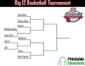 Big 12 Basketball Tournament Bracket Printable
