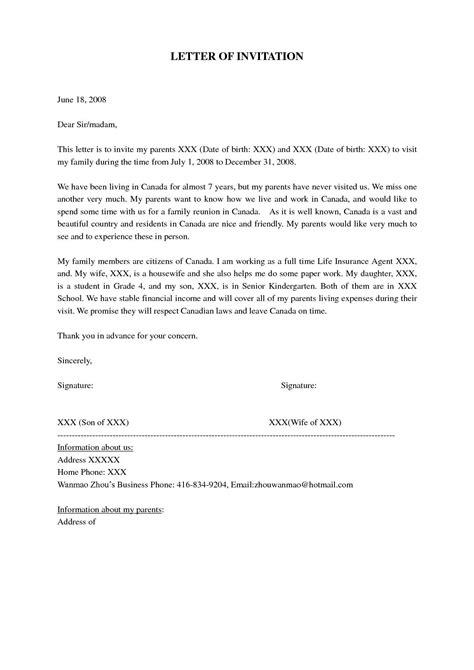 super visa invitation letter notarized sample visa