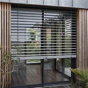 Store Bois Exterieur : brise soleil orientable lacettes franciaflex ~ Premium-room.com Idées de Décoration