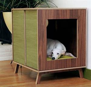 25 cool indoor dog houses home design and interior for Modern indoor dog house