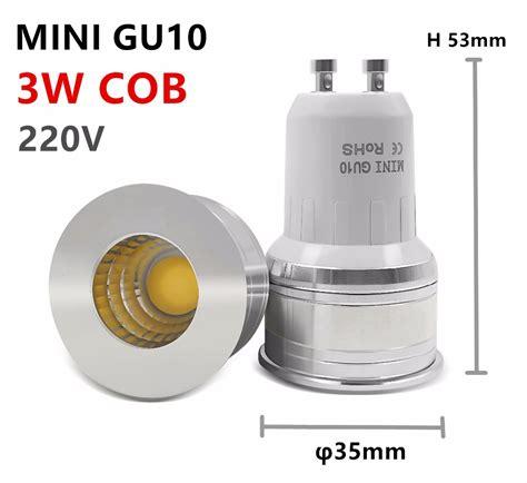 led bulb mini gu10 35mm spotlight 3w dimmable 110v 220v