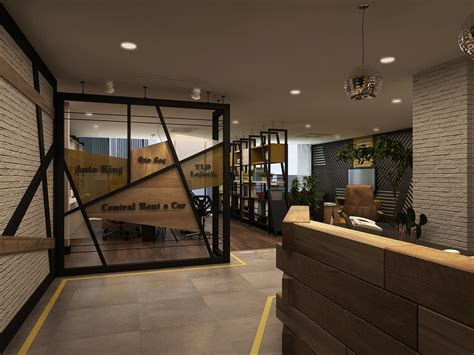 Office Interior Design by Rent A Car Office Interior Design On Behance
