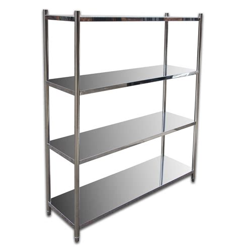 4 Tier 1800mm X 500mm Stainless Steel Shelf Unit Kitchen