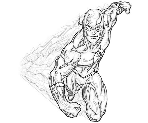 The Flash Superhero Coloring Pages 27891, Bestofcoloringcom
