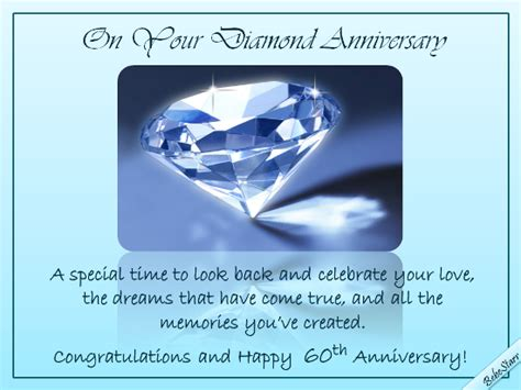 diamond anniversary wishes  milestones ecards greeting cards