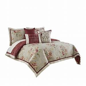 Waverly, Fresco, Flourish, 4, Piece, Reversible, Comforter, Set