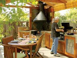 how to build outdoor kitchens in the garden hipagescomau With guy fieri outdoor kitchen design
