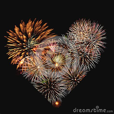 fireworks heart stock photography image