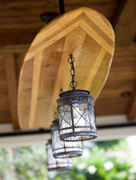 creative wooden surfboard light fixture id lights