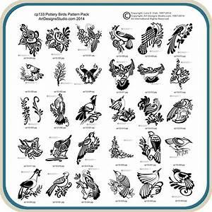 Pottery, Birds, U2013, Classic, Carving, Patterns