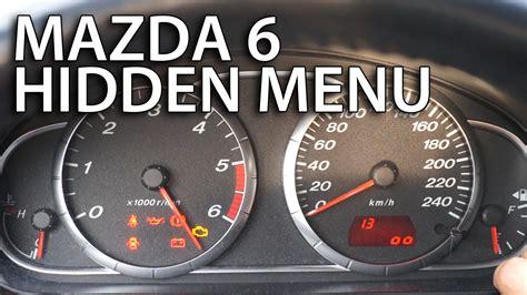 mazda  hidden menu test mode  fixinfo