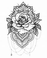 Coloring Realistic Rose Coloringhome Hard Flowers sketch template