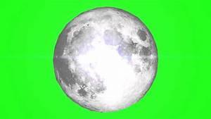 Moon - Green Screen Royalty Free Footage - YouTube  Green