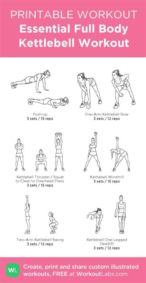 kettlebell workout body pdf printable exercises workouts exercise workoutlabs routines kettle sheets essential gym bell kettlebells custom training customworkout created