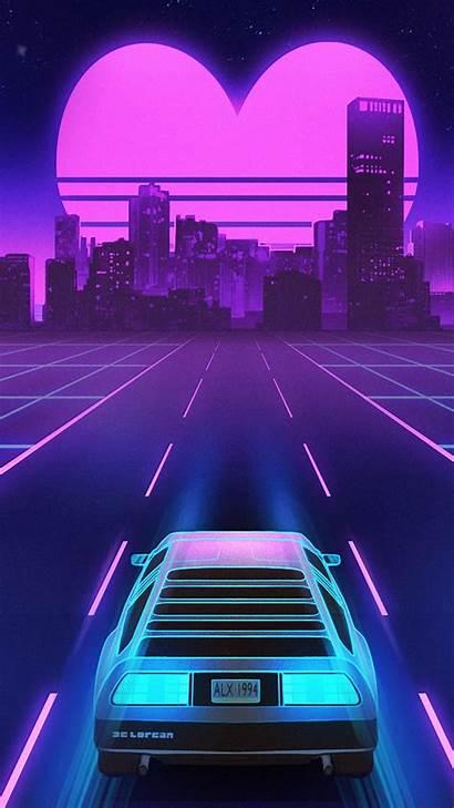Aesthetic Wallpapers Retro Phone Vaporwave Retrowave Purple
