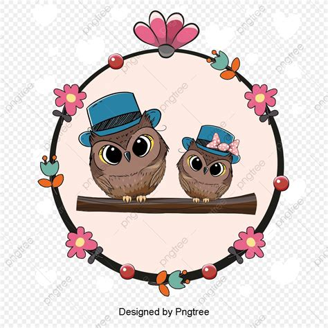 Download your collections in the code format compatible with all browsers, and use icons. Cartoon Animals Vector Material Couple, Owl, Lovers ...