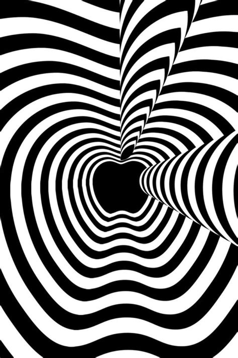 Black And White Animated Wallpapers - b w quenalbertini psychedelic black and white iphone