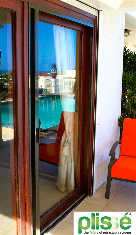option  sliding glass door screens  plisse retractable screen  screen solutions