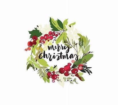 Christmas Card Write Merry Script Horizontal Southern