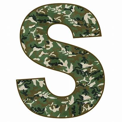 Camo Letter Letters Alphabet Printable Camouflage Military