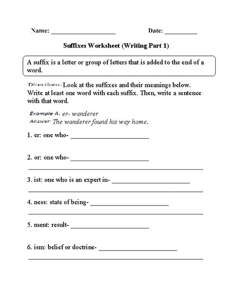 englishlinx com suffixes worksheets