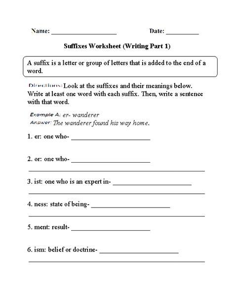 englishlinx suffixes worksheets
