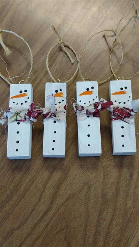 snowmen  jenga game pieces christmas crafts