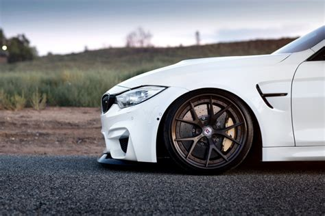 alpine white bmw   hre  wheels  satin bronze