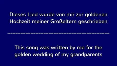 lied zur goldenen hochzeit song  golden wedding
