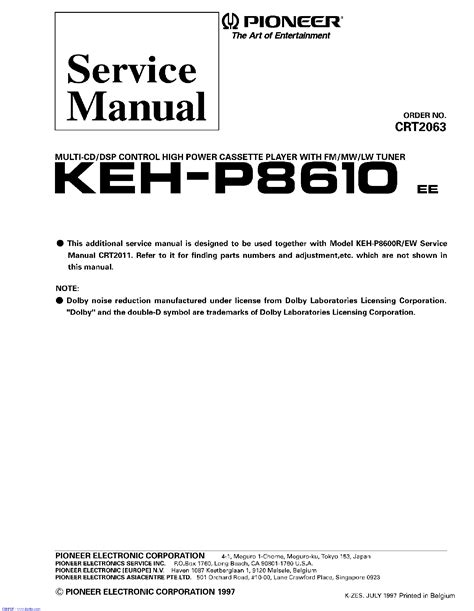 pioneer kp 500 service manual schematics eeprom repair info for electronics experts