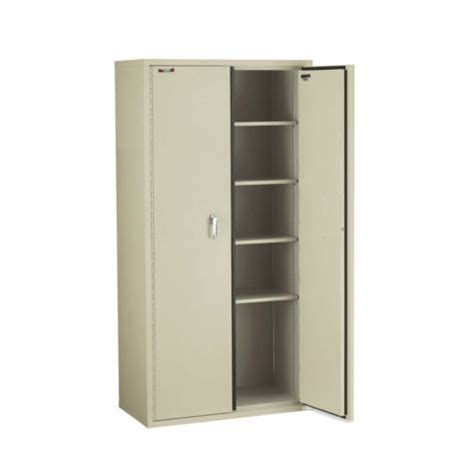 fireproof five shelf storage cabinet 72 quot h