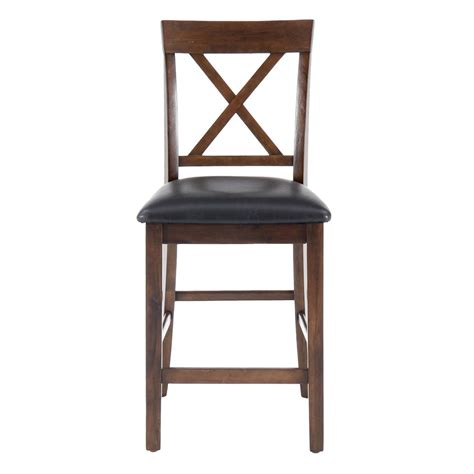x back counter stool oak casual x back counter stool set of 2 439 1678