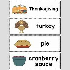 Thanksgiving Words Great For A Pocket Chart, Word Wall Or Flash Cards Includes 20 Thanksgiving