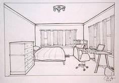 Perspektive Zeichnen Raum : die 38 besten bilder von zimmer zeichnen vanishing point drawings und drawing techniques ~ Orissabook.com Haus und Dekorationen