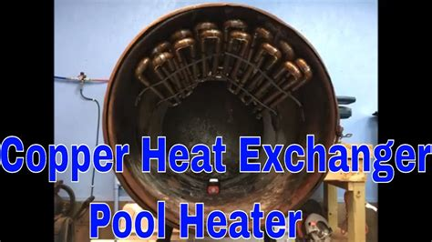 copper heat exchanger  barrel wood stove  heat pool