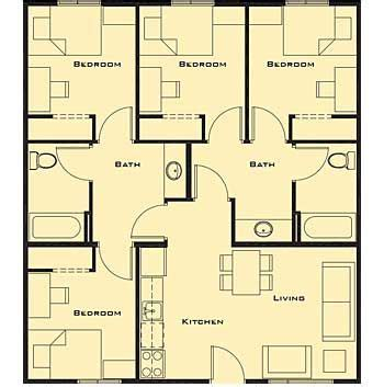 Spectacular Bedroom Bath House Plans by Small 4 Bedroom House Plans Free Home Future Students