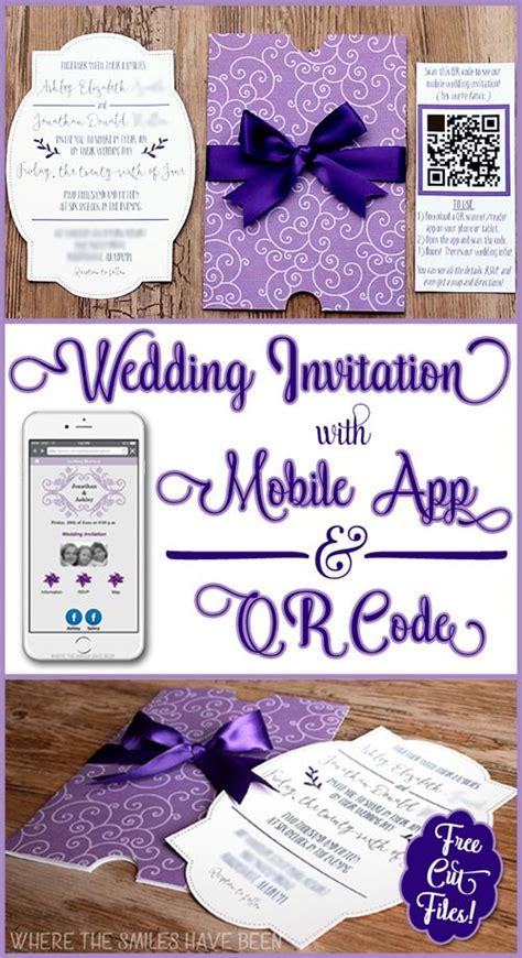 diy wedding invites with mobile app qr code free cut