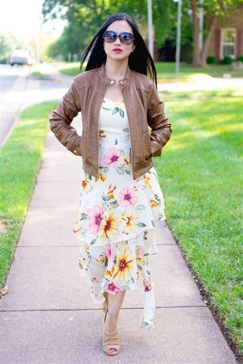 transition  summer floral dress  fall