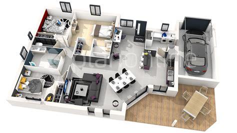 plan de maison 3 chambres plan de maison moderne 3 chambres 3d maison moderne