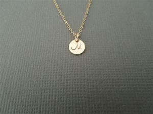 tiny initial letter monogram necklace small gold With small gold letter necklace