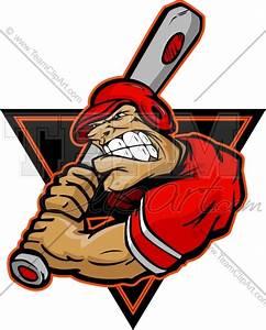 Baseball Cartoon Logo Graphic Image. Vector Format.